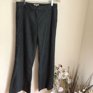 Burberry London Grey Virgin Wool High Waist Pants